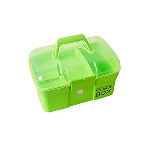 RENJUN Erste-Hilfe-Kasten Family Medicine Box Toolbox Baby-Medizin-Box Mehrschichtige kleine medizinische Box 27x17x17cm Erste-Hilfe-Kasten (Color : Green)