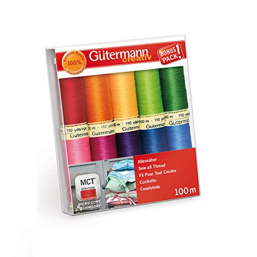 Gutermann Hilo de coser, multicolor, 2.0 x 10.0 x 11.5 cm
