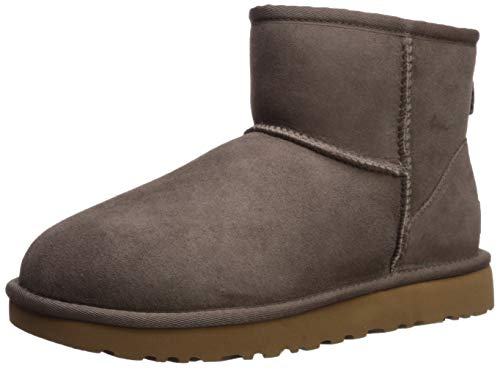 UGG Women's Classic Mini II Fashion Boot, mole, 8 M US