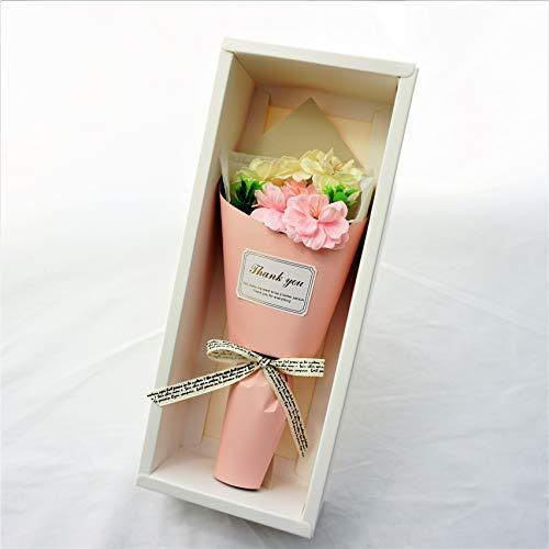 BIOフレグランスソープフラワーフェアリー3輪プリティ桜ギフトボックスお祝い記念日お見舞いギフトに最適(プリティ桜ピンク)