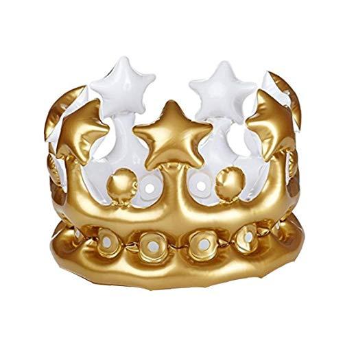 Corona A Forma di Sfondo Air Balloon Cappello di Compleanno Gonfiabile Corona Festa di Compleanno Decorazioni Dorate