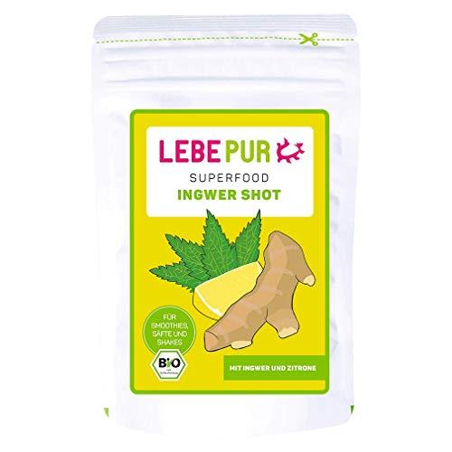Lebepur, Ingwer Shot, Pulver für einen Ingwershot mit Zitronengeschmack, 1x 125 g