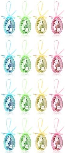 com-four® 16x Uova di Pasqua da Appendere - Decorazioni pasquali in Grandi Colori - Decorazioni pasquali con Effetto Mosaico - Dimensioni: 6 cm (16 Pezzi - Mix di 6 cm)