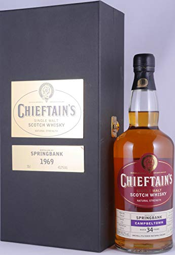 Springbank 1969 34 Years Barrel Cask 50 Ian McLeod Chieftain´s Choice Campbeltown Single Malt Scotch Whisky Cask Strength 43,2% Vol. - eine von 300 Flaschen!