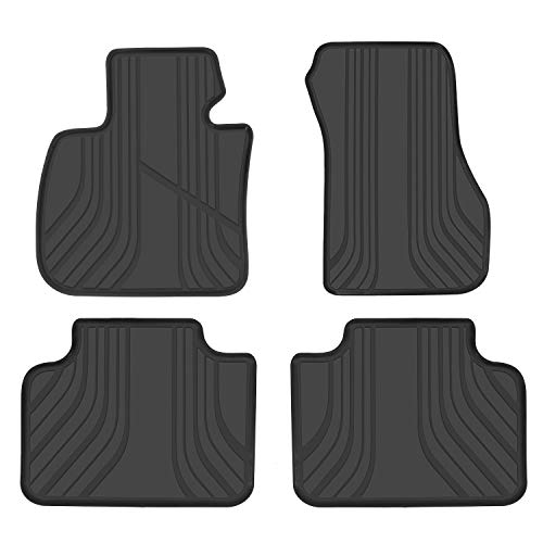 San Auto Car Floor Mat for BMW X1(2015-2019) 2AT(2015-2019) X2(2018-2019) F48 F45 F39 Custom Fit Full Black, Rubber All Weather Heavy Duty & Odorless