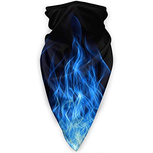 Blue Fire Flame Balaclava Face Mask Ski Cycling Face Scarf Mask Neck Gaiter black