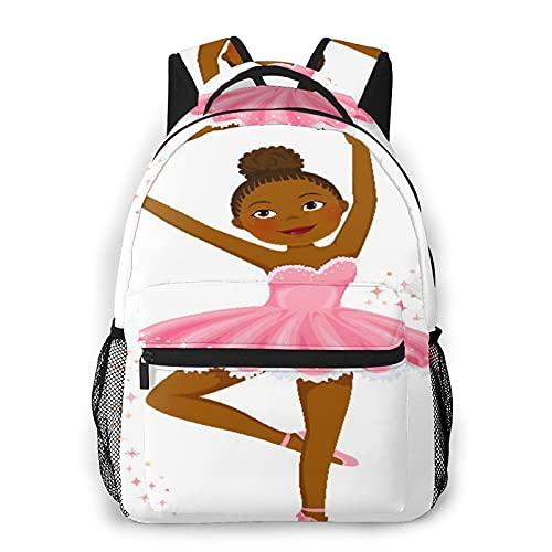 CVSANALA Multifuncional Casual Mochila,Linda bailarina de piel oscura bailando,Paquete de Hombro Doble Bolsa de Deporte de Viaje Computadoras Portátiles