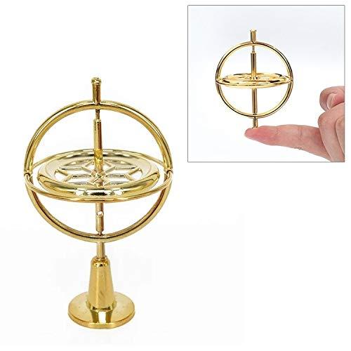 Bloques La descompresión del Juguete de aleación de Zinc Dedo giroscopio con Base magnética, Negro (Color : Gold)
