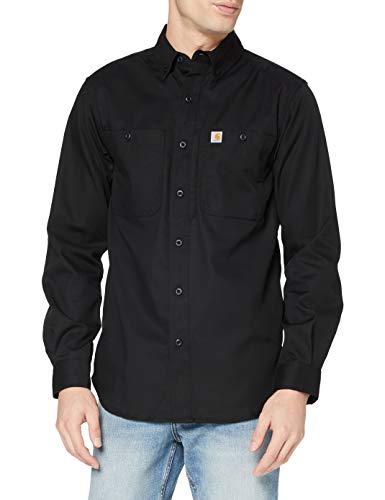 Carhartt Herren Rugged Professional Long-Sleeve Work T-Shirt, Black, L