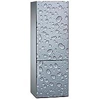 Oedim Vinilo para Frigorífico Textura Gris Refrescante 185 x 60 cm   Adhesivo Resistente y de Fácil Aplicación   Pegatina Adhesiva Decorativa de Diseño Elegante