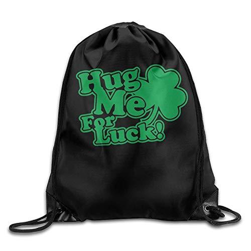 Lsjuee Hug Me for Luck Drawstring Backpack Bag Beam Mouth Sport Bag Shoulder Bags for Men & Women
