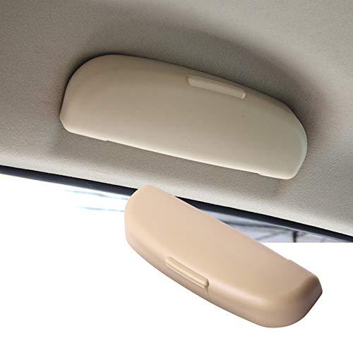 SHAOHAO - Custodia per occhiali da sole per Volvo XC90 XC60 V90 V60 Interno Supporto per occhiali (Beige)