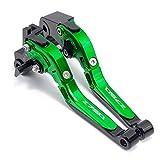 Levier DE Frein DE Moto Aluminium Moto CNC Accessoires Freins Embrayage Poignée/Fit for Kawasaki Z750 Z 750 2007 2008 2009 2010 2011 (Color : Green A)
