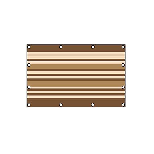 Ljings Paño Sombra Solar Ojales, Vela Sombrilla Marrón Beige para Patios Rectángulo Toldo, Cochera para Patio Al Aire Libre Resistente Los Rayos UV,0.9 * 1.35m