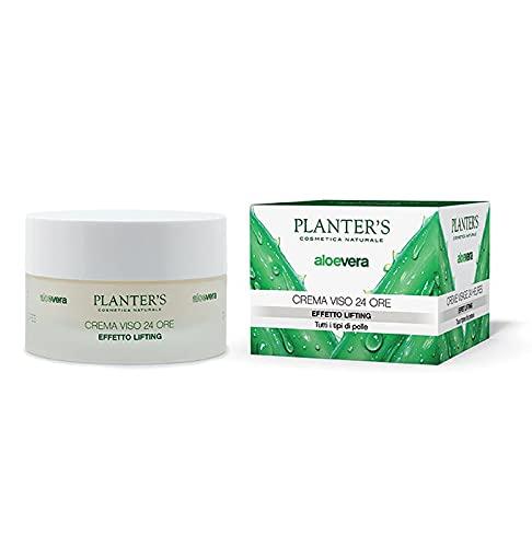Planter's - Crema Viso 24H Effetto Lifting all'Aloe Vera. Effetto idratante, anti-age e antirughe per pelle secca, mista o grassa. Protezione solare UVA/UVB. 50 ml