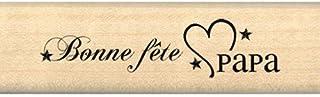 Florilèges Design FB109115 Tampon Scrapbooking Bonne Fête Papa Beige 2 x 7 x 2,5 cm