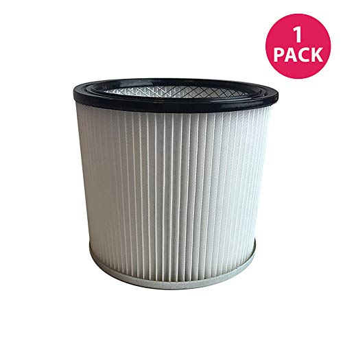 Think Crucial Replacement for Vacmaster Cartridge Filter Fits 2.5-16 Gallon Wet and Dry Vacs, Compatible with Part VCFS (1 Pack)