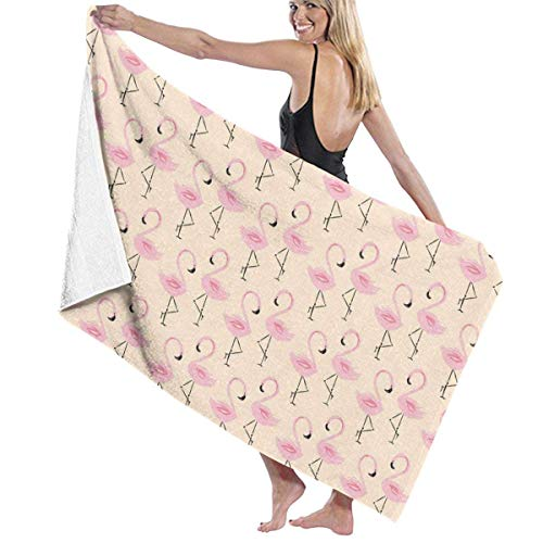 Toallas Shower Towels Beach Towels Bathroom Towels Toalla De Baño Toallas de playa Peach Flamingos Toallas de baño Toalla 130 x 80 CM