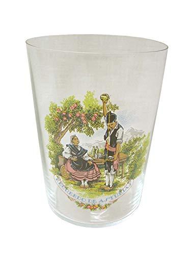 Dkristal Lote 6 Vasos Cristal Sidra Sella con Calca Decorado Recuerdo