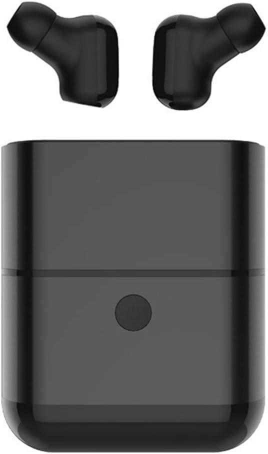Aawqeo Wireless Ear Buds TWS Wireless Headphones Bluetooth 5.0 Earphones Cordless Headphone Handsfree Earbuds Audifono Earphone Headset (Color : Black)