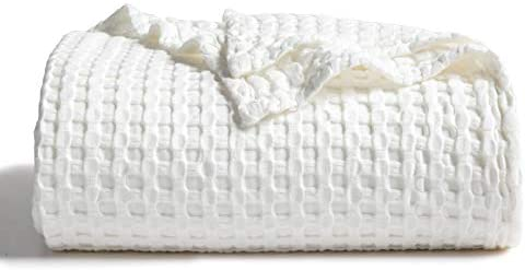 Bedsure 50 Cotton 50 Bamboo Blanket Waffle Weave Blanket for Couch Bed Soft Lightweight Blanket product image