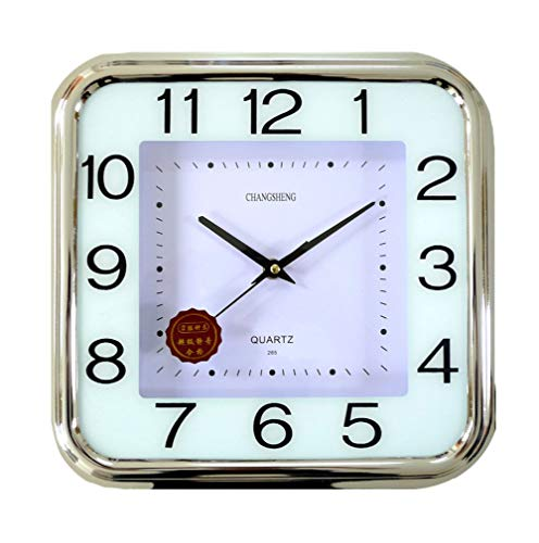 CursOnline - Reloj de pared silencioso sin tictac, cuadrado de 30cm, números...