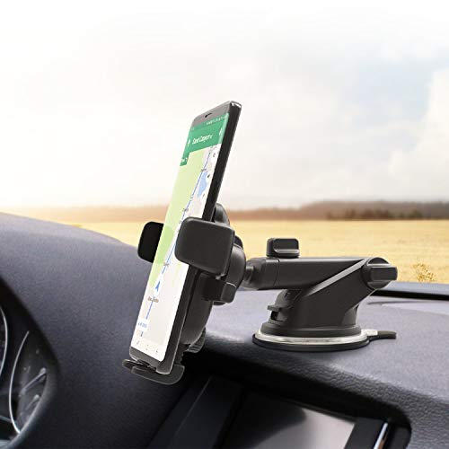 iOttie Easy One Touch 4 Dashboard & Windshield Car Phone Mount Holder for iPhone Xs Max R 8 Plus 7 6s SE, Samsung Galaxy S9 S8 Edge S7 S6 Note 9 & Other Smartphone (Renewed)