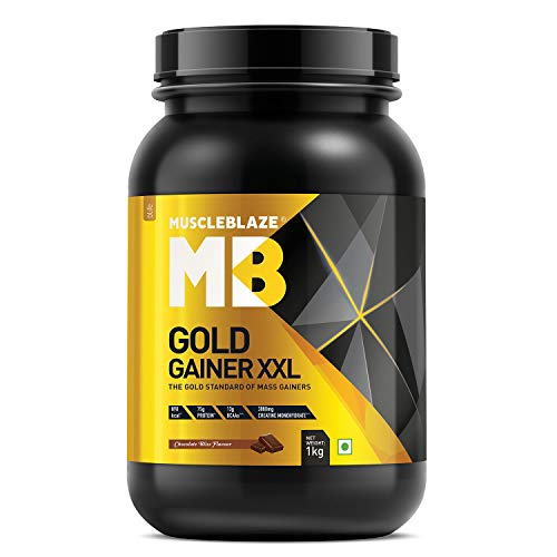 MuscleBlaze Gold Gainer XXL (Chocolate Bliss, 1 kg / 2.2 lb, 10 Servings)
