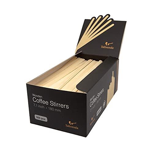 Holzstäbchen, Kaffeelöffel, Einweg Holzstäbchen, Eisstiele aus Holz, Löffel für Kaffee to go Becher, Stäbchen für Kaffeebecher mit Deckel, Holz zum Basteln,Besteck Set,Rührstäbchen Holz,500 Stk.,18 cm