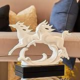 Adornos De Escultura En Resina - Caballo Blanco Estatua 31 * 10 * 23.5cm- Decoración De La Oficina Apertura De Regalos De Negocios Dormitorio Dormitorio Artesanía