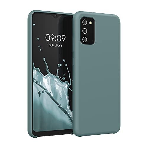 kwmobile Hülle kompatibel mit Samsung Galaxy A02s - Hülle Handyhülle gummiert - Handy Hülle in Arctic Blue