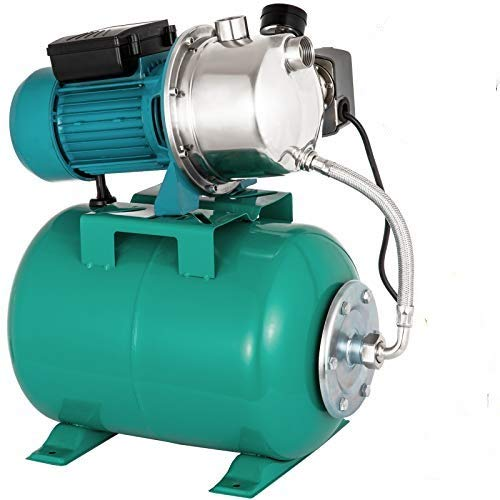 Happybuy Shallow Well Jet Pump and Tank 1 HP 750W