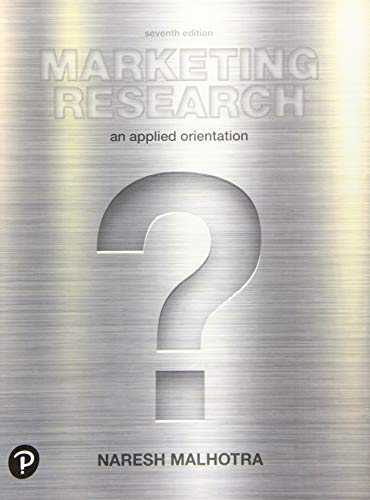 Marketing Research: An Applied Orientation (What's New in Marketing)