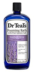 SOOTHE SORE MUSCLES & TIRED FEET: Dr Teal's Foaming Bath transforms an ordinary bath in a relaxing spa by combining Pure Epsom Salt (Magnesium Sulfate USP) and luxurious essential oils to soothe the senses, revitalize tired, achy muscles and help pro...