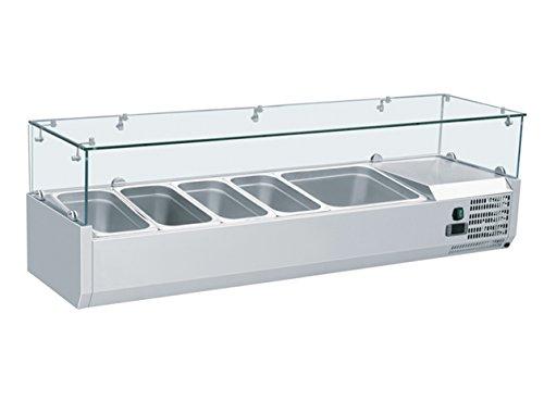 Zorro - Aufsatzkühlvitrine Kühl Aufsatzvitrine Kühltisch Aufsatz für Pizzakühltisch Saladette 1400/380 mm