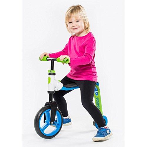 Scoot and Ride SARFREAK_G Trotinette 2 en 1 Mixte Enfant, Blanc/Vert