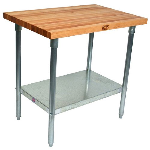 John Boos SEAL limited product HNS01 Maple Top Work Base Factory outlet Sh Galvanized with and Table
