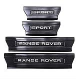 NA Protector de umbral de Puerta de Coche de 4 Piezas para Range Rover Sport 2014-2019, Ajuste del umbral del Pedal de Desgaste Placa de protección Accesorios de teletipo, Acero Inoxidable