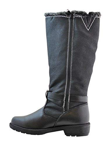Weatherproof Womens Cold Weather Boots with Side Zipper (Debby) Waterproof Insulated Tall Winter Boots for Comfort, Durability - Keeps Feet Warm & Dry - Available Both in Medium and Wide Black