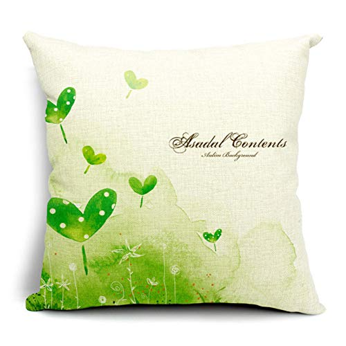 DXSERCV Cushion Cover Green Trees Decorative Throw Pillows Case Colorful Forest Scenery Green Blue Home Decoration 45X45Cm