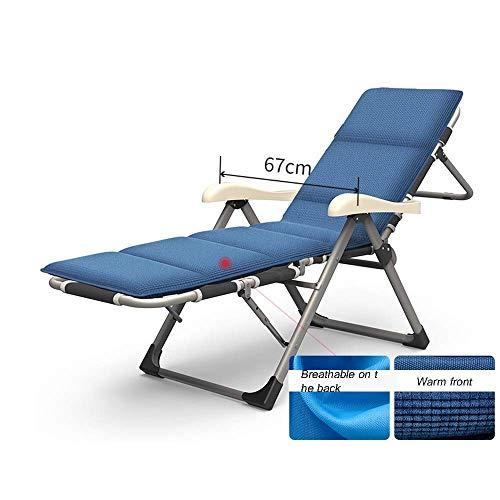 WSDSX Silla reclinable Plegable, reclinable Plegable de Gravedad Cero Patio Exterior Terraza Tumbona y Silla Siesta de Ocio Interior Siesta con Respaldo Individual Lazy Lounge C