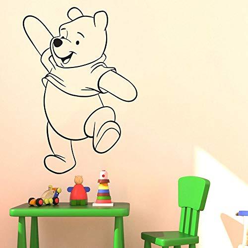 Pegatinas de pared de oso de anime, pegatinas artísticas de pared para habitación de niños, pegatinas de uso de pintores, pegatinas para habitación de niños, dibujos animados de oso