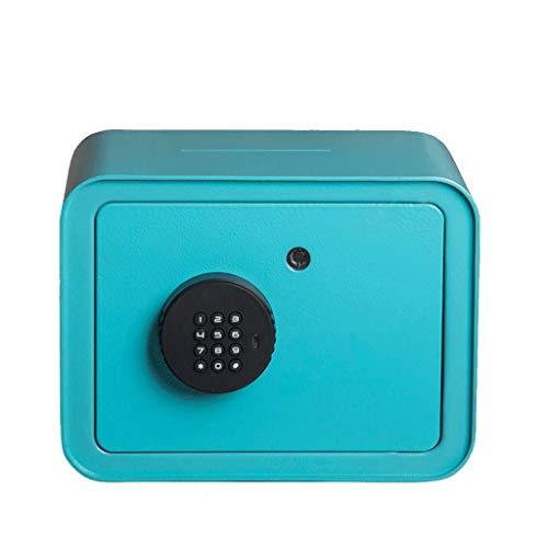 Hucha/Caja de Dinero Contraseña Electrónica Alcancía, Mini Hucha con Monedas De Niños, De Gran Capacidad Decoración del Hogar Recuerdos, Plaza Hucha Banco de Dinero (Color : Blue)