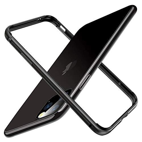 qingbing Custodia Rigida Sottile per paraurti in Metallo con Telaio in Alluminio per iPhone 12 PRO Max 12 Mini, Armatura con Telaio in Metallo (for iPhone 12 PRO Max 6.7'', Black)