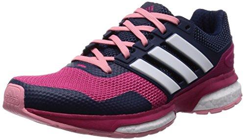 adidas Damen, Sneaker, Response Boost 2 W, mehrfarbig (rosa / blanco / azul marino), 37 1/3 EU (4.5 UK)