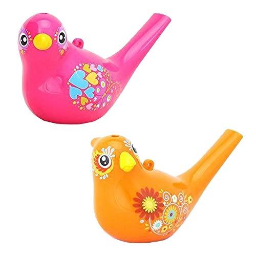 Ritte Vogelpfeifen, 2 Stück Wasservogelpfeifen Farbig Zeichnung Wasser Vogel Pfeifen Badezeit Musical Spielzeug Fuer für Kinder, Geburtstagsgeschenk, Ostergeschenk