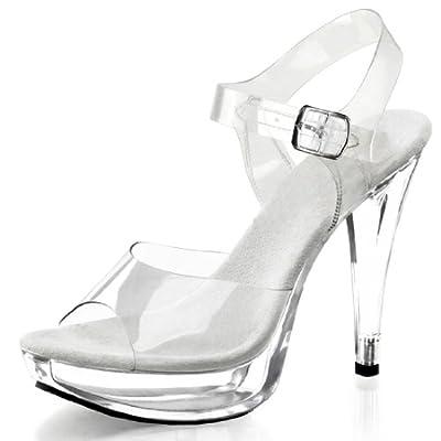 Pleaser Women's Cocktail-508/C/M Platform Sandal,Clear/Clear,11 M US