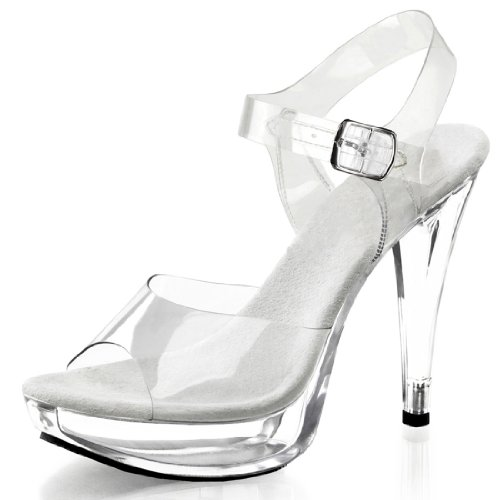 Pleaser Women's Cocktail-508/C/M Platform Sandal,Clear/Clear,6 M...