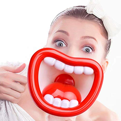 Best Review Of Child Megaphone, Big Red Lips Toy Megaphone, Voice Changer for Kids with Megaphone Fu...