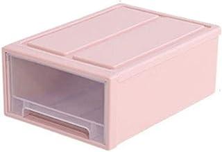 Cajón archivador de plástico,ZARLLE Juego de Cajas con Comercio y Tapa Caja de Almacenamiento Multiusos con Tapa, Translúcido